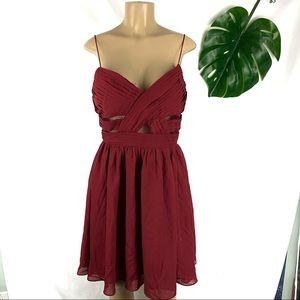 NWT Soprano Sleeveless Red Mini Midriff Dress M